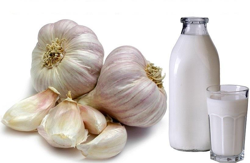 чеснок и молоко от глистов